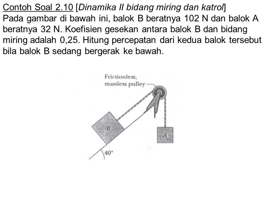 Contoh Soal 2.10 [Dinamika II bidang miring dan katrol]